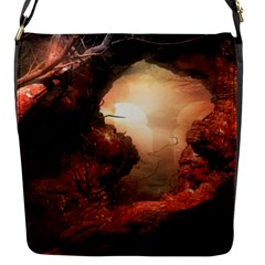 3d Illustration Of A Mysterious Place Flap Messenger Bag (s) by Nexatart
