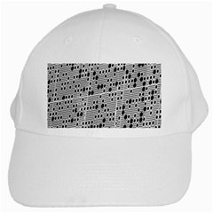 Metal Background With Round Holes White Cap by Nexatart