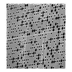 Metal Background With Round Holes Shower Curtain 66  X 72  (large)  by Nexatart