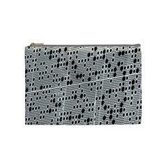 Metal Background With Round Holes Cosmetic Bag (medium)  by Nexatart