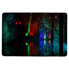 Illuminated Trees At Night Near Lake Ipad Air Flip by Nexatart