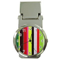 Stripe Background Money Clip Watches by Nexatart