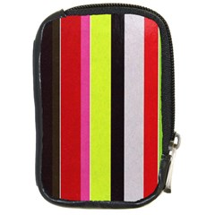 Stripe Background Compact Camera Cases by Nexatart