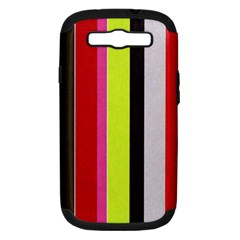Stripe Background Samsung Galaxy S Iii Hardshell Case (pc+silicone) by Nexatart