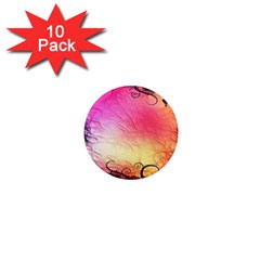 Floral Frame Surrealistic 1  Mini Magnet (10 Pack)  by Nexatart