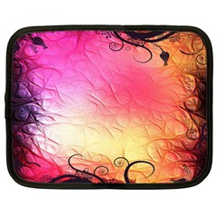 Floral Frame Surrealistic Netbook Case (xxl)  by Nexatart