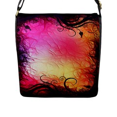 Floral Frame Surrealistic Flap Messenger Bag (l)  by Nexatart