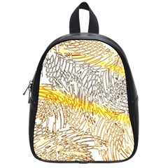 Abstract Composition Digital Processing School Bags (small)  by Nexatart