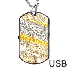 Abstract Composition Digital Processing Dog Tag Usb Flash (one Side) by Nexatart