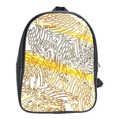 Abstract Composition Digital Processing School Bags (xl)  by Nexatart