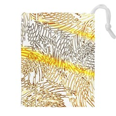 Abstract Composition Digital Processing Drawstring Pouches (xxl) by Nexatart