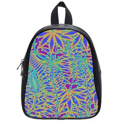 Abstract Floral Background School Bags (small)  by Nexatart