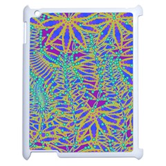 Abstract Floral Background Apple Ipad 2 Case (white) by Nexatart