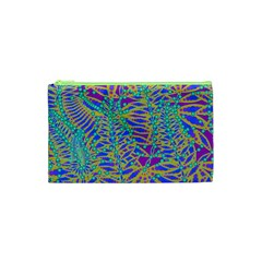 Abstract Floral Background Cosmetic Bag (xs) by Nexatart