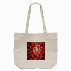 Water Drops Red Tote Bag (cream) by Nexatart
