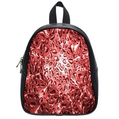 Water Drops Red School Bags (small)  by Nexatart