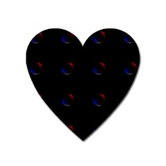 Tranquil Abstract Pattern Heart Magnet by Nexatart
