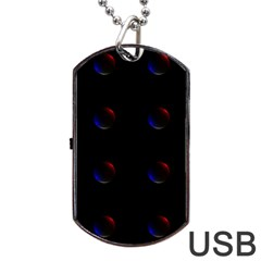 Tranquil Abstract Pattern Dog Tag Usb Flash (two Sides) by Nexatart