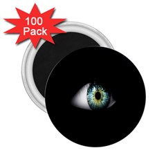 Eye On The Black Background 2 25  Magnets (100 Pack)  by Nexatart