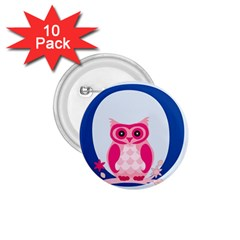 Alphabet Letter O With Owl Illustration Ideal For Teaching Kids 1 75  Buttons (10 Pack) by Nexatart