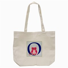 Alphabet Letter O With Owl Illustration Ideal For Teaching Kids Tote Bag (cream) by Nexatart