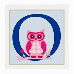 Alphabet Letter O With Owl Illustration Ideal For Teaching Kids Medium Glasses Cloth (2 Side) by Nexatart