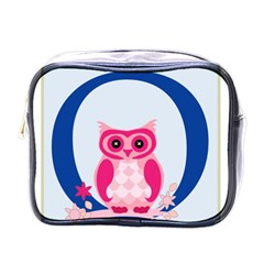 Alphabet Letter O With Owl Illustration Ideal For Teaching Kids Mini Toiletries Bags by Nexatart