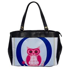 Alphabet Letter O With Owl Illustration Ideal For Teaching Kids Office Handbags by Nexatart