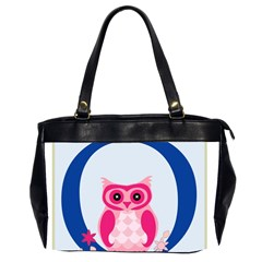 Alphabet Letter O With Owl Illustration Ideal For Teaching Kids Office Handbags (2 Sides)  by Nexatart