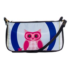 Alphabet Letter O With Owl Illustration Ideal For Teaching Kids Shoulder Clutch Bags by Nexatart