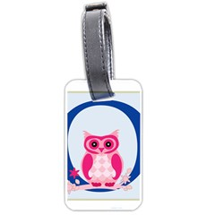 Alphabet Letter O With Owl Illustration Ideal For Teaching Kids Luggage Tags (one Side)  by Nexatart