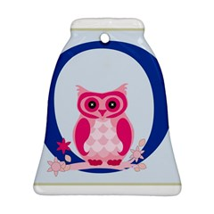 Alphabet Letter O With Owl Illustration Ideal For Teaching Kids Bell Ornament (two Sides) by Nexatart