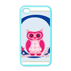 Alphabet Letter O With Owl Illustration Ideal For Teaching Kids Apple Iphone 4 Case (color) by Nexatart