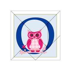 Alphabet Letter O With Owl Illustration Ideal For Teaching Kids Acrylic Tangram Puzzle (4  X 4 ) by Nexatart
