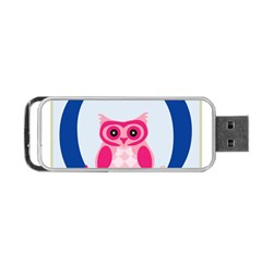 Alphabet Letter O With Owl Illustration Ideal For Teaching Kids Portable Usb Flash (two Sides) by Nexatart