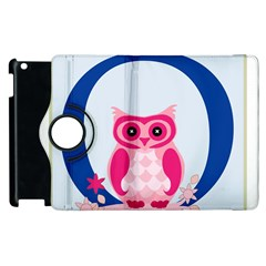 Alphabet Letter O With Owl Illustration Ideal For Teaching Kids Apple Ipad 3/4 Flip 360 Case by Nexatart