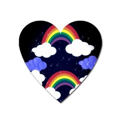 Rainbow Animation Heart Magnet by Nexatart