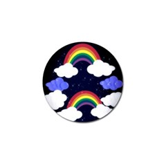 Rainbow Animation Golf Ball Marker by Nexatart