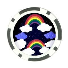 Rainbow Animation Poker Chip Card Guard by Nexatart