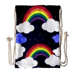 Rainbow Animation Drawstring Bag (large) by Nexatart