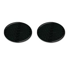 Abstract Clutter Cufflinks (oval) by Nexatart