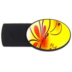 Butterfly Background Wallpaper Texture Usb Flash Drive Oval (4 Gb) by Nexatart