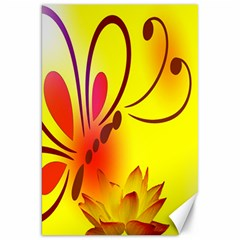 Butterfly Background Wallpaper Texture Canvas 20  X 30   by Nexatart