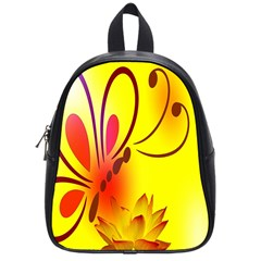 Butterfly Background Wallpaper Texture School Bags (small)  by Nexatart
