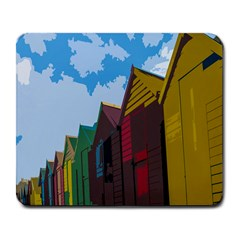Brightly Colored Dressing Huts Large Mousepads by Nexatart