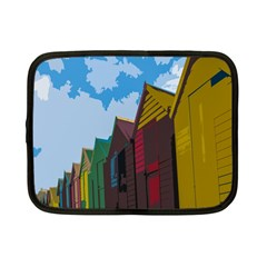 Brightly Colored Dressing Huts Netbook Case (small)  by Nexatart