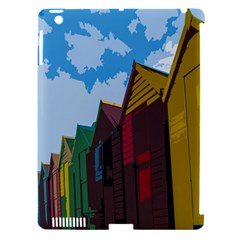 Brightly Colored Dressing Huts Apple Ipad 3/4 Hardshell Case (compatible With Smart Cover) by Nexatart