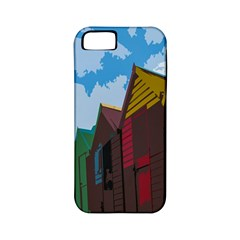 Brightly Colored Dressing Huts Apple Iphone 5 Classic Hardshell Case (pc+silicone) by Nexatart