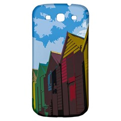 Brightly Colored Dressing Huts Samsung Galaxy S3 S Iii Classic Hardshell Back Case by Nexatart