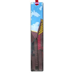 Brightly Colored Dressing Huts Large Book Marks by Nexatart